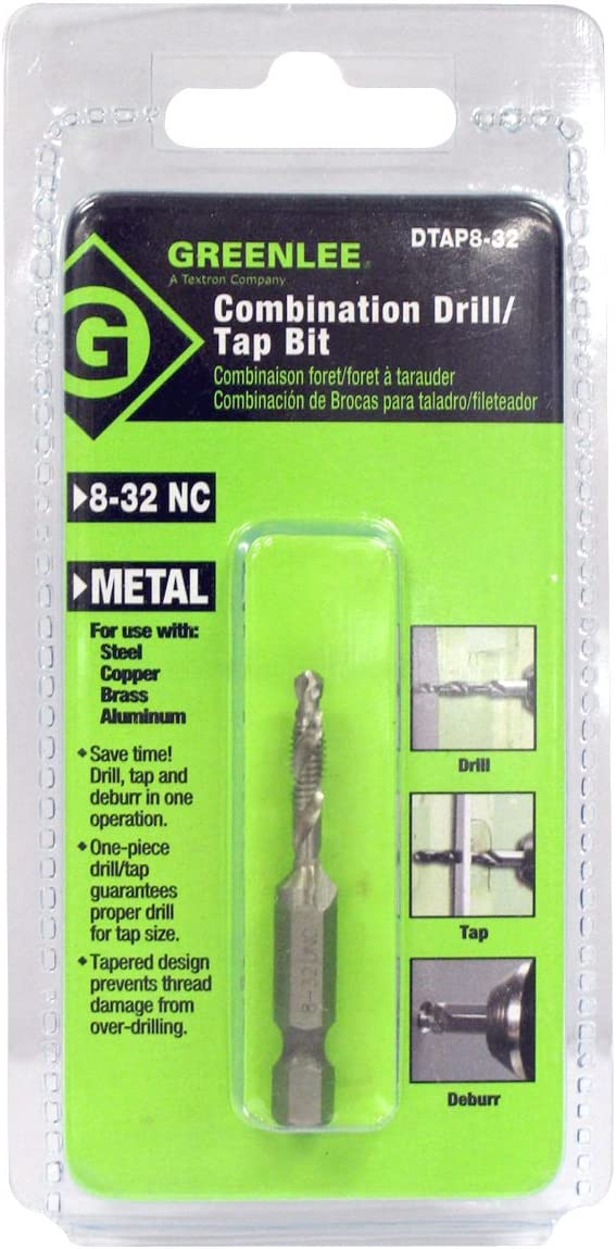 Greenlee Drill//Tap//Countersink Hss 8-32