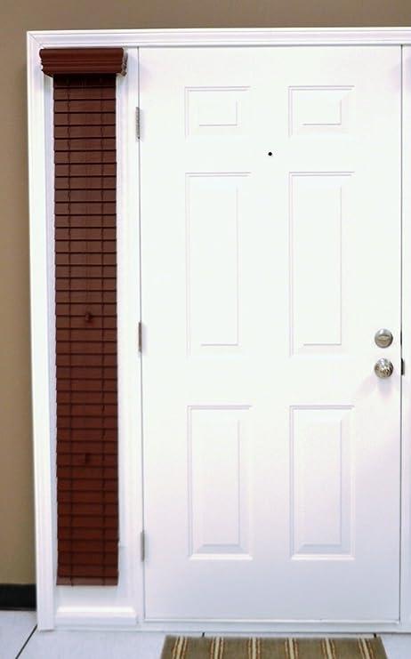 Delta Blinds Supply - Persianas horizontales con lamas de 5 cm para los laterales de la puerta, madera sintética respetuosa con el medio ambiente, color blanco, resistentes a la torsión, montaje exterior: