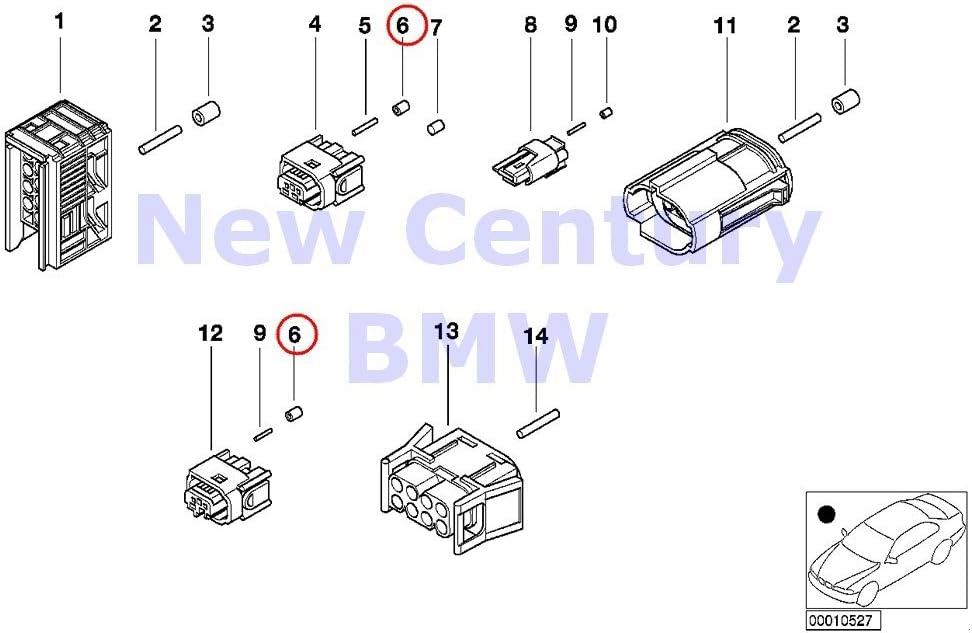 3 X BMW Genuine Sealing Grommet 0.5-0.75MM 850Ci 318i 318is 318ti 320i 323i 325i 325is 328i M3 M3 3.2 740i 740iL 740iLP 750iL 750iLP 525i 528i 530i 540i 540iP M5 320i 323Ci 323i 325Ci 325i 325xi 328Ci
