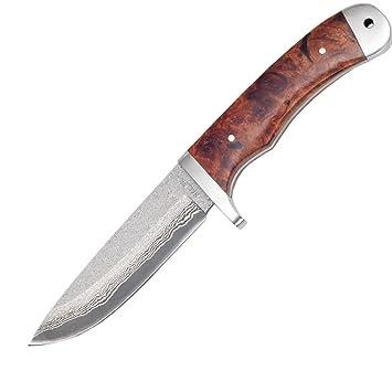Haller - Cuchillo (Acero de Damasco de 39 capas de madera de ...