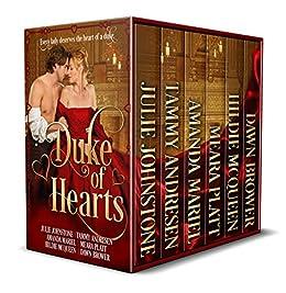 Duke of Hearts: Historical Romance Anthology by [Johnstone, Julie, Andresen, Tammy, Platt, Meara, Mariel, Amanda, McQueen, Hilide, Brower, Dawn]