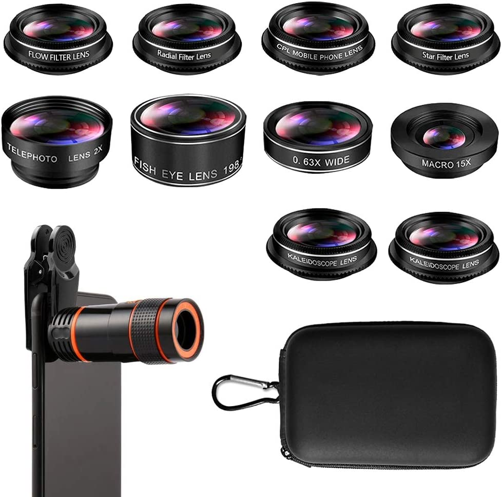 kit de lente para iPhone y teléfonos inteligentes Android