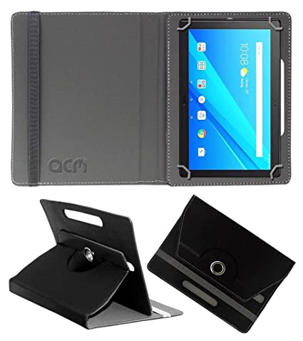 pretty nice 82923 3fa95 ACM Rotating Leather Flip Case for Lenovo Tablet 4/ 10 Plus (Black)