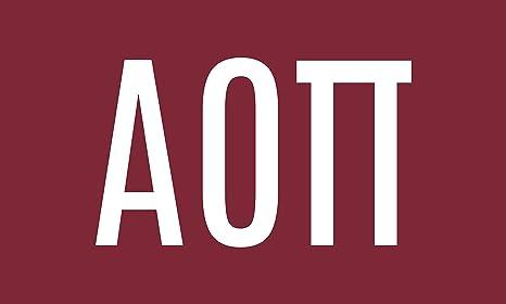 86630723b21 Amazon.com  Alpha Omicron Pi Letter Sorority Flag Banner Greek ...