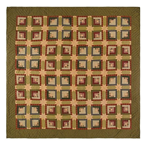 VHC Brands Tea Cabin Luxury King Quilt 105x120 by VHC Brands