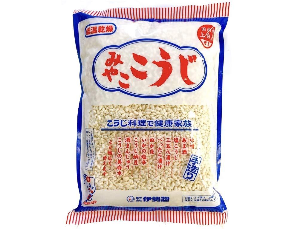 MIYAKO KOJI 500g. It is a traditional Japanese food that is good for health. With Original recipe collection. (17.5 oz) by MIYAKO KOJI