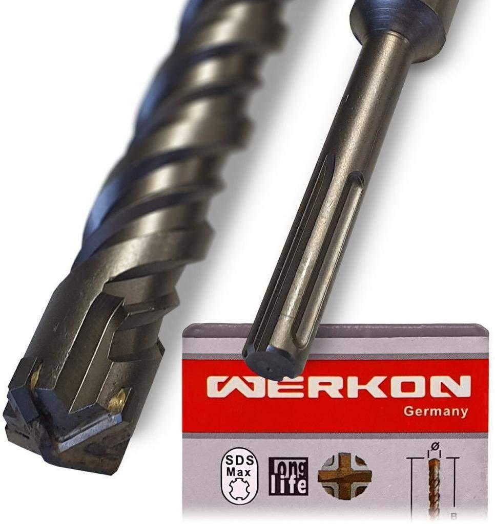 Pas de copeaux dans les bras 20 x 800 mm Id/éal pour percer rapidement dans le b/éton Pointe en carbure de haute qualit/é Foret SDS Max 20 mm de diam/ètre Longueur 20 x 800 mm