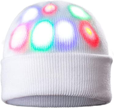 Led Light Up Hat Beanie Silly Christmas Hat Funny Novelty Hat For
