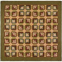 VHC Brands Tea Cabin 10752 Quilt, Twin