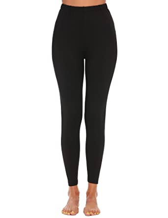 6a6ebcec13 Ekouaer Womens Ladies Basic High Waist Solid Slim Fit Yoga Sport Pants  Leggings yoga trousers: Amazon.co.uk: Clothing