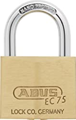 Grey ABUS 58988 75mm Non Conductive Lock Out Tag Out Long Shackle Anodized Aluminium Padlock
