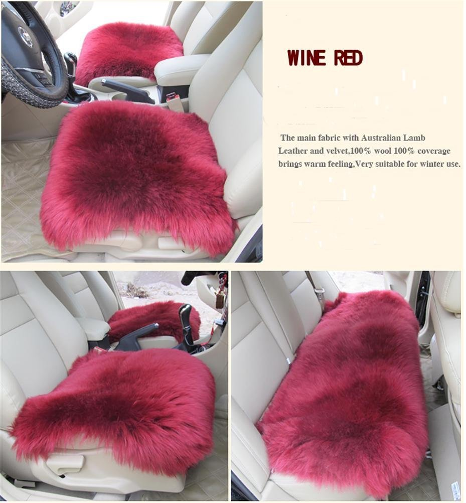 YAOHAOHAO Universal Full Set Deluxe sheep of the skin of the car seat cover wool chair pad