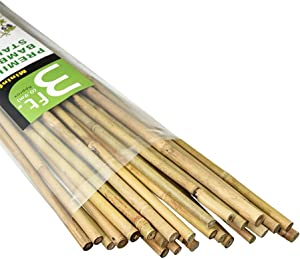 Mininfa Natural Bamboo Stakes 3 Feet, Eco-Friendly Garden Stakes, Plant Stakes Supports Climbing for Tomatoes, Trees, Beans, 25 Pack
