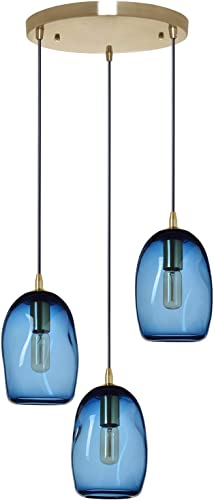 Casamotion Chandelier Pendant Lighting Handblown Glass Drop Ceiling Light