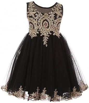 729bbd56ce862 Little Girls Dress Sparkle Rhinestones Pageant Wedding Flower Girl Dress  Black Size 4 (M10BK49)
