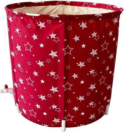 Bañera Burbuja De Baño De Modelado De Burbujas De Pentagrama Roja,Red De Hogares Adultos Red De Baño De Lavado De Aislamiento Rojo (Color : Red, Size : 65 * 70cm): Amazon.es: Hogar