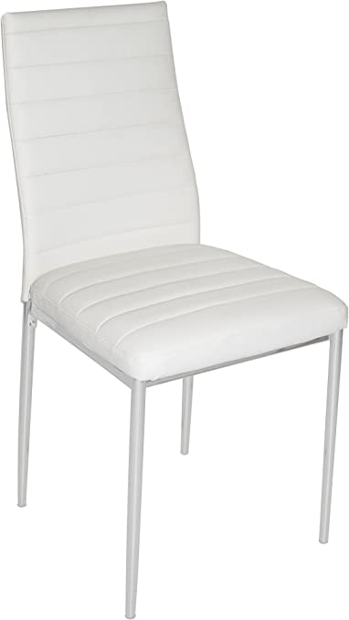 13Casa Edera A5 Set 4 sedie. Dim: 43x42,5x93 h cm. Col: Bianco. Mat: Ecopelle.