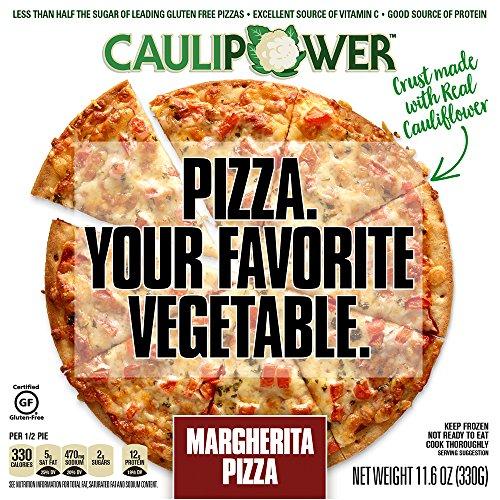 Margherita Cauliflower Crust Pizzas by CAULIPOWER, Gluten Free, Non-GMO, Lower Carb (4 Pack)