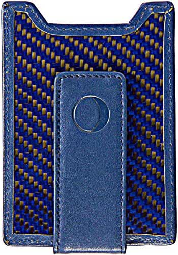 Slim Money Clip and Front Pocket Wallet for Men - Carbon Fiber & Leather with Credit Card Holder & ID Case - RFID Blocking …