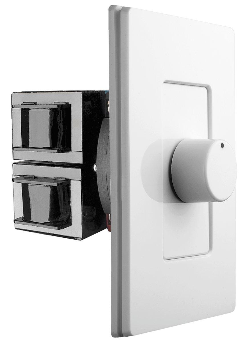 OSD Screwless Rotary Knob Volume Control 300W High Power Impedance Matching SLK300 Decra Style Wall Plate Snap On