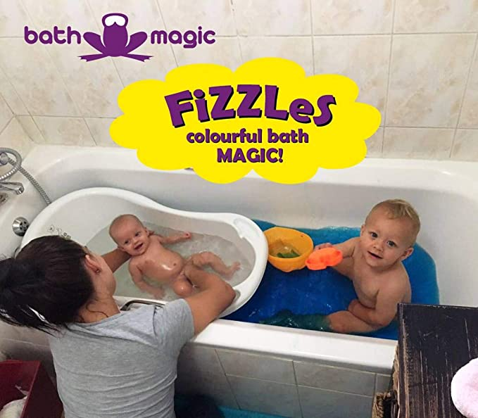 Magic Bath Baby Jacuzzi.Zentraedi Fizzy Bath Bombs Neon Colorant Kit Supplies For Kids 3 Pack 30 Tablets Blue Orange And Pink