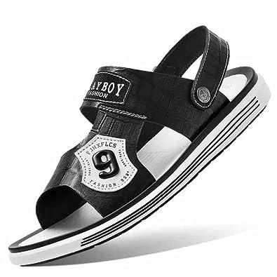 c6e6908cf79 Men s Casual Sandals Summer 2018 Fashion Beach Shoes Korean Trends  Personality Joker Two Wear Sandals Microfiber
