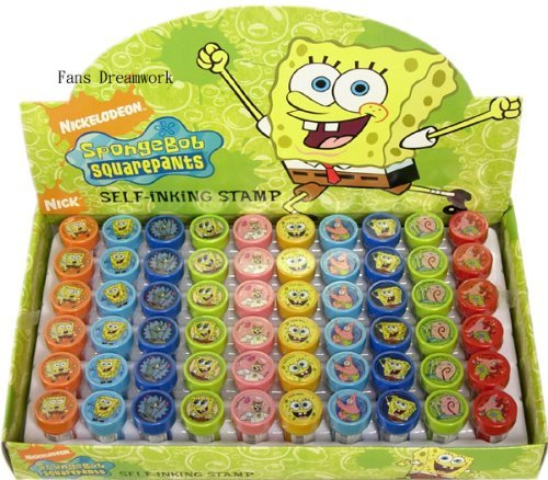- SpongeBob SquarePants Self-Inking Stamps / Stampers Party Favors (10 Counts) by GoodyPlus