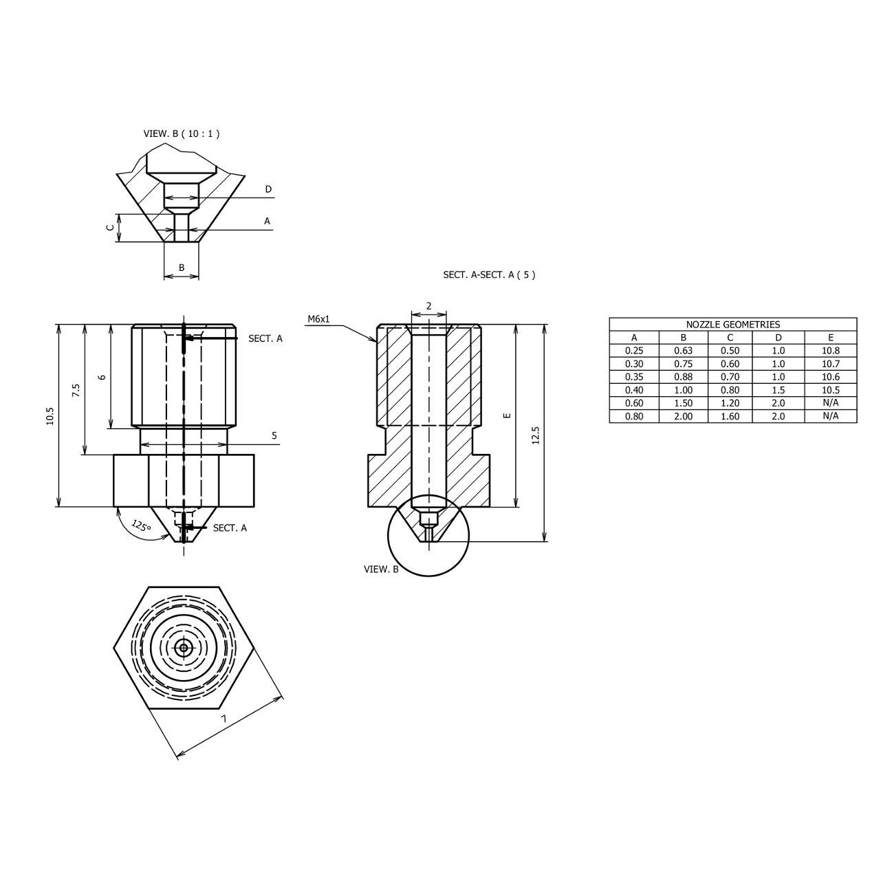 WINSINN Technology Ltd WINSINN Stainless Steel Nozzle 0.4mm V6 for 3D Printer Hotend Extruder 1.75mm Filament Pack of 10Pcs