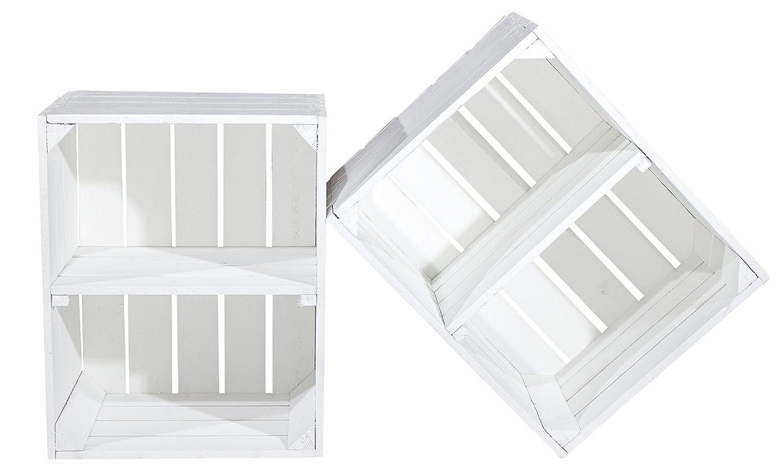 diy set 4 kisten gemischtes paket wei e holzkisten weinkisten regal aus wei em ebay. Black Bedroom Furniture Sets. Home Design Ideas