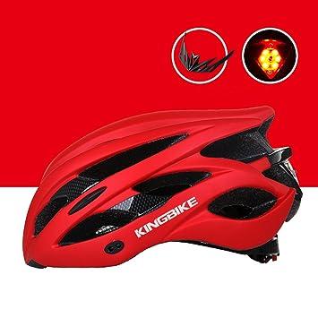 208g Ultra peso ligero - con la luz de la cola Casco de la bici,