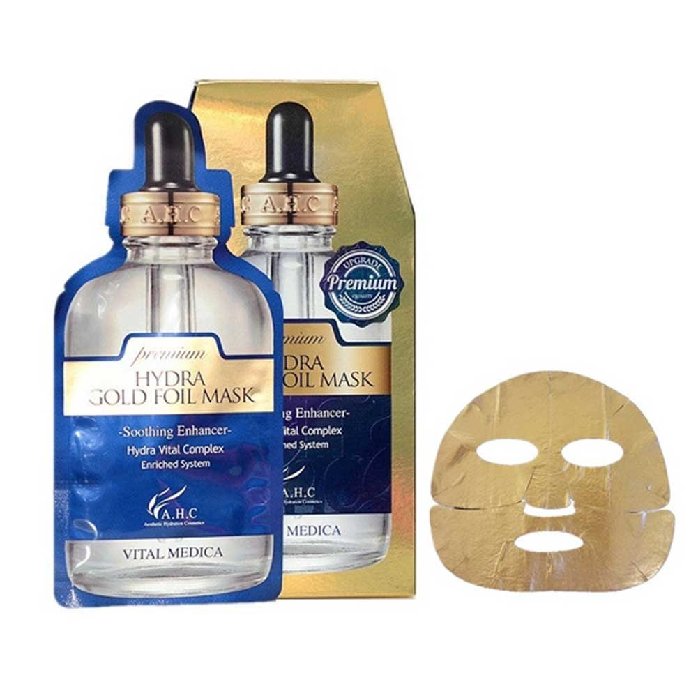 A.H.C Premium Hydra Gold Foil Mask Pack of 5 with AHC Wrinkle care mask pack 1