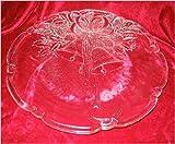 14.75' Mikasa Holiday Bells Crystal Platter Glass Plate Christmas RC197/516