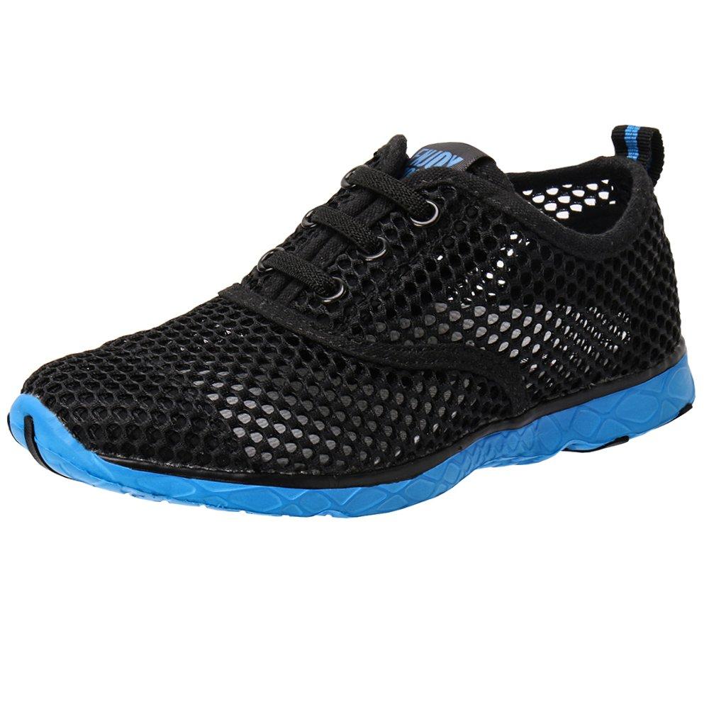 ALEADER Kid's Quick Dry Water Shoes Comfort Walking Sneakers Black/Blue 5 M US Big Kid