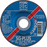 PFERD 63172 Depressed Centre Cut-Off Wheel, Type 27, Aluminum Oxide A, 4-1/2'' Diameter x .045'' Thickness, 7/8'' Bore, 13300 Max RPM (Pack of 25)
