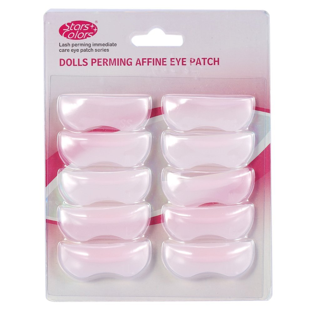 5 Pairs Lash Extension Eyelash Perming Curler Silicone Shield Pads for Beauty, Pink Yosoo