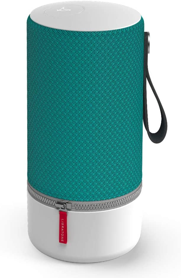 Libratone Zipp Wifi Bluetooth Smart Speaker, 360° Loud Stereo Sound with Dual Mic Build-in, 15W Woofer Deep Bass, 12 Hour Playtime, Airplay2 and Spotify connect, Work with Alexa(Deep Lagoon)