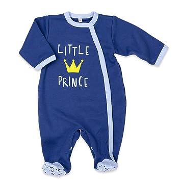 a91476994e Baby Sweets Baby Strampler Jungen blau   Motiv: Little Prince    Babystrampler mit goldener Krone