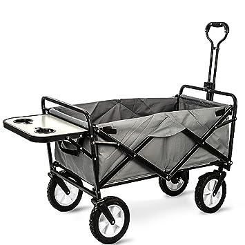GARDEN CAR ZLMI Carrito de jardín portátil Plegable para niños al Aire Libre Camping Cochecito Puede Sentarse en la Carga de Coche de autobús 80Kg (con ...