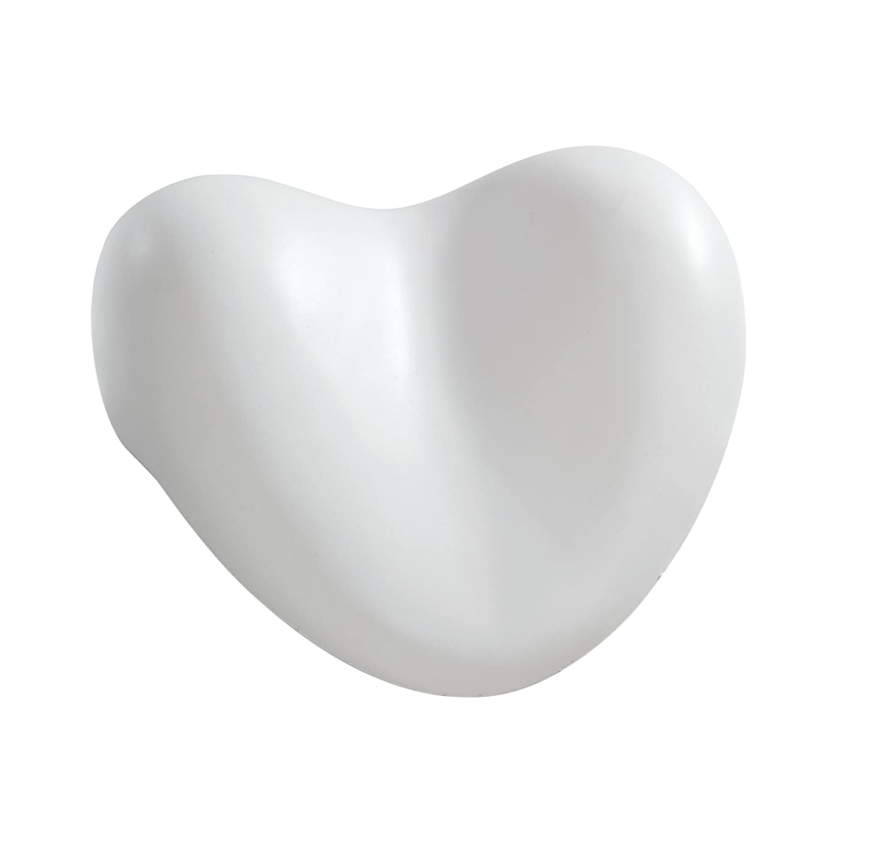 WENKO 18936100 Kopf- und Nackenkissen Tropic White, Kunststoff - Polyurethan, 25 x 11 x 20.5 cm, Weiß Weiß