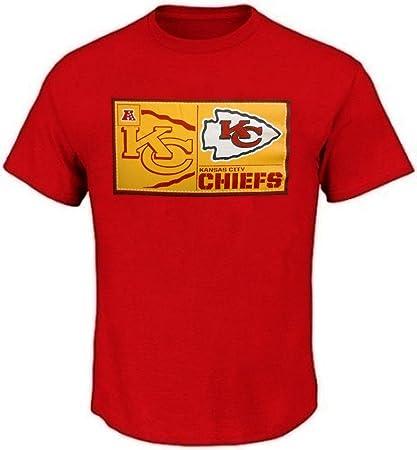 huge selection of 02a86 5c477 Kansas City Chiefs NFL Men's Bold Locker Tag Red Shirt Big Sizes