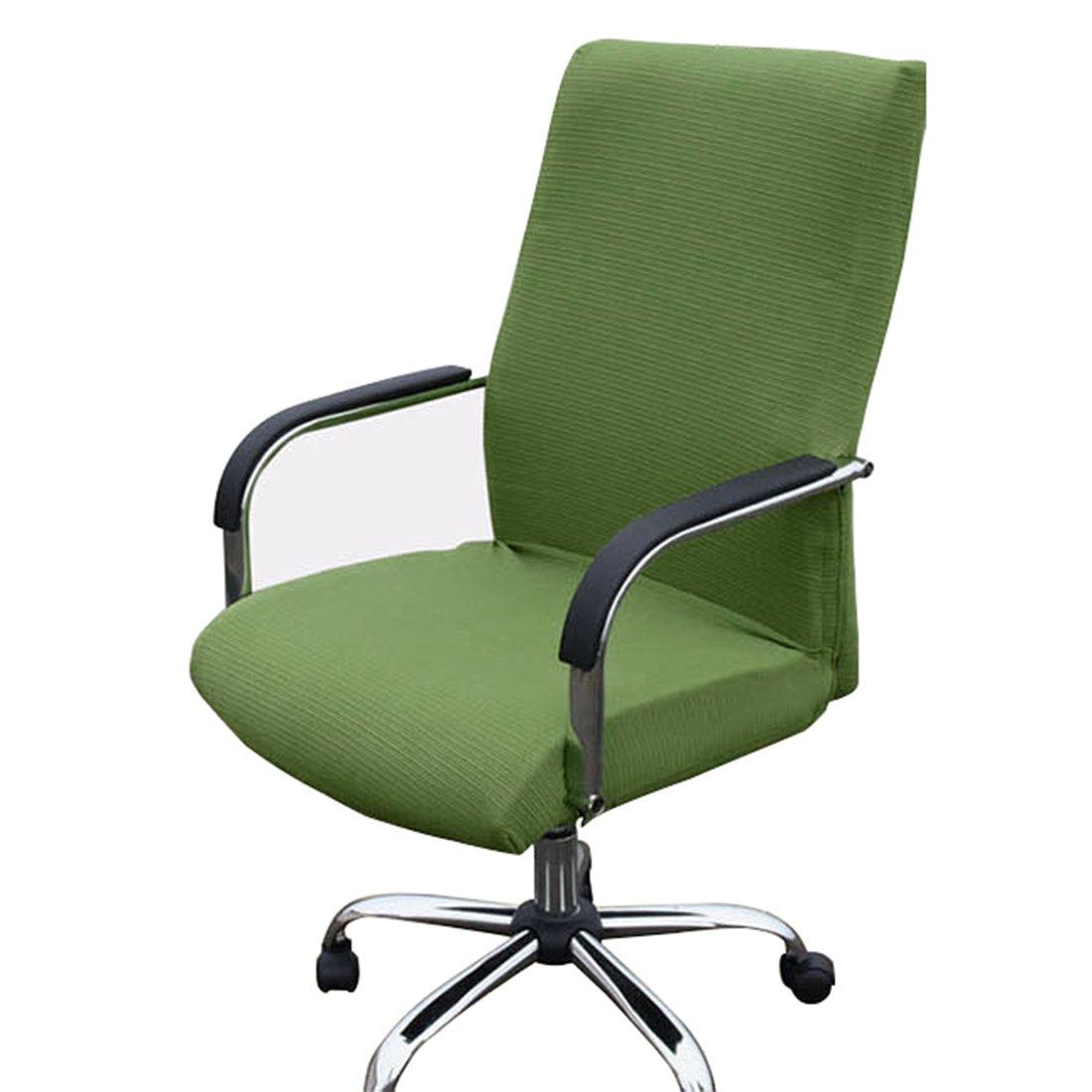 Funda MiLong para silla de oficina. Funda elástica y extraíble, elastano, verde claro, Medium