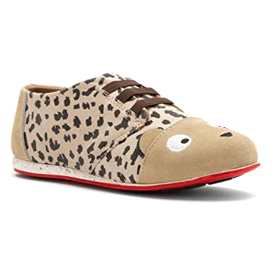 0f56809c0ac4 EMU Australia Kids Girl's Cheetah Sneaker (Toddler/Little Kid/Big Kid)  Caramel