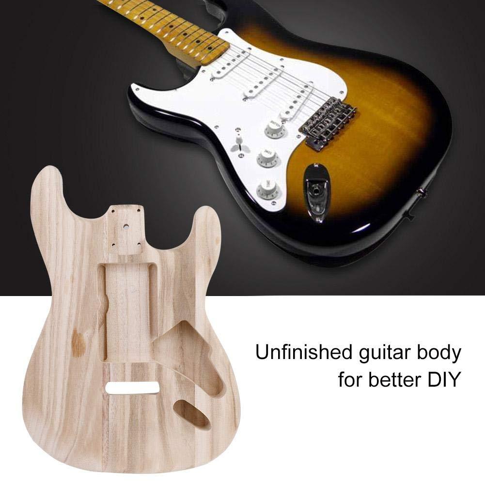Dilwe Guitarra Electrica Unfinished Body, Madera de Arce Inconcluso Cuerpo de Guitarra Eléctrica DIY Accesorio de Instrumento Musical: Amazon.es: Deportes y ...