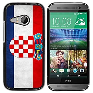 Paccase / SLIM PC / Aliminium Casa Carcasa Funda Case Cover - National Flag Nation Country Croatia - HTC ONE MINI 2 / M8 MINI