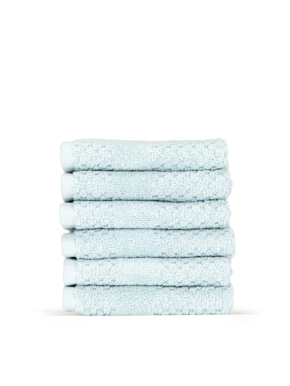 Chortex Honeycomb % 100トルコ綿Washcloth ,セットof 6 13Wx13L CHHC6WC B00RAYWDUE ダックエッグ