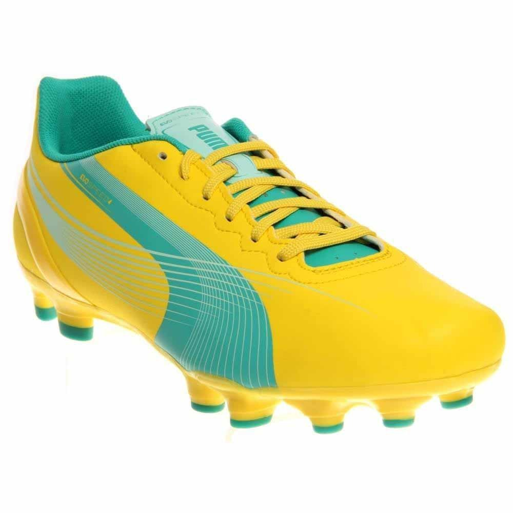 PUMA Women's Evospeed 4.2 Firm Ground Soccer Shoe,Vibrant Yellow/Spectra Green/Blue Light,7 B US