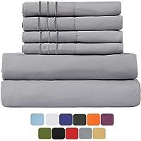 6-Piece Tastelife 105 GSM Deep Pocket Bed Sheet Set