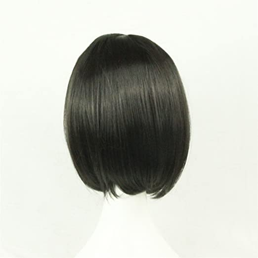 Chiguo Short Wigs Cosplay Hair Wig Hairpieces for Women and Girls Cosplay Free Wig Cap and Hairpin Rock Music Festival Festival Halloween Costume Party Fancy Dress Grey