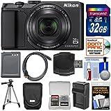 Nikon Coolpix A900 4K Wi-Fi Digital Camera (Black) with 32GB Card + Case + Battery + Charger & Tripod + Kit