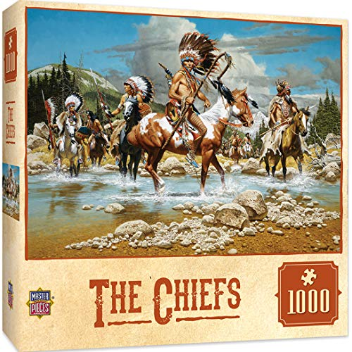 MasterPieces Tribal Spirit Jigsaw Puzzle, The Chiefs, Featuring American Indian Tribe Traditions & Ceremonies, 1000 Pieces